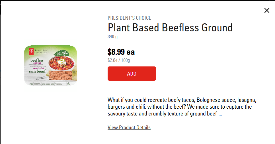 loblaws presidents choice meatless ground beef.png